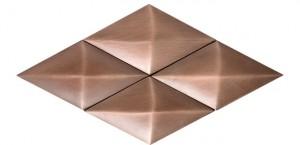 Metal Rosette 17 Bronze