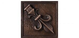 Metal Rosette 19 Bronze