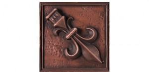 Metal Rosette 19 Copper