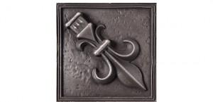 Metal Rosette 19 Silver