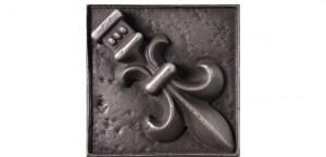 Metal Rosette 20 Silver