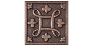 Metal Rosette 21 Bronze