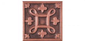 Metal Rosette 21 Copper